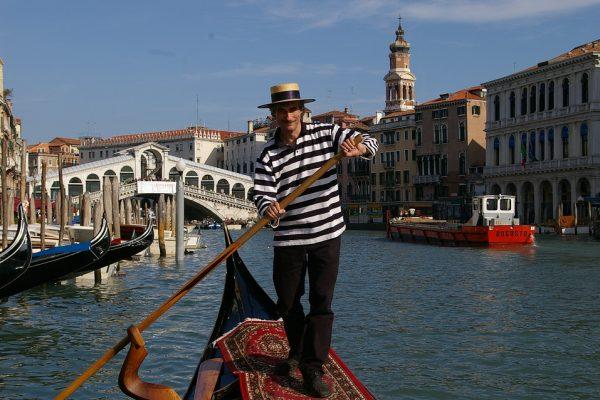 Venice Rialto Bridge Canal Grande Gondola